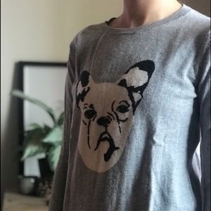 Gap XS wool sweater with dog design